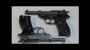 Немски пистолети Валтер П-38 и П-1 9х19 пара