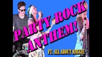 """кавър на песента """"party rock anthem""""- Walk off the earth"""