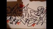 graffiti drawing black book