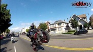 Birdmans Birthday Ride 2013 Motorcycle Wheelies Streets Tricks Cra