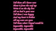 Shontelle - Impossible lyrics.