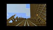 Skydive (biggest wooden minecraft roller coaster)