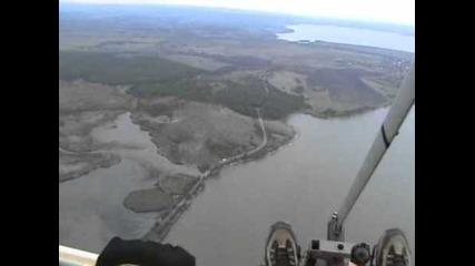Полет с мотоделтапланер в околностите на яз.мандра, общ.бургас