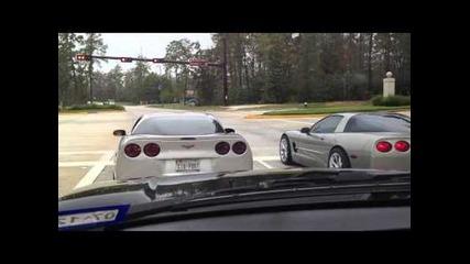Corvette C6 + Corvette C5 = катастрофа