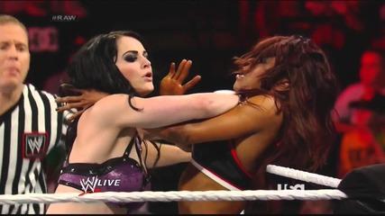 Wwe Raw 14/04/14: Paige vs. Alicia Fox / Wwe Първична Сила 14/0/14: Пейдж Срещу Алиша Фокс