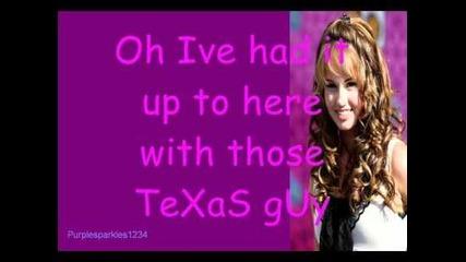 Debby Ryan-those Texas Guys Lyrics