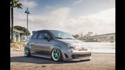 "2012 Fiat 500 Abarth on 17"" Avant Garde F130 / Ag Wheels"