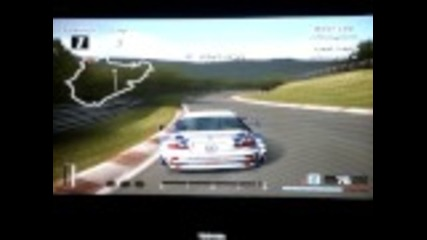 Nurburgring Nordschleife record lap with Bmw M3 Gtr Race Car - 6:45