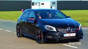 Mercedes-benz A45 Amg Exhaust Sounds! Accelerations & Downshifts!