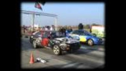 Audi 80 Coupe Quattro Turbo Vs. Subaru Impreza Wrx Sti Drag Race