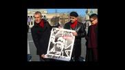 Kraftschlag Haha Antifa Affen parade