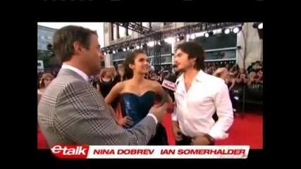 Ian Somerhalder & Nina Dobrev on Etalk
