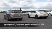 Amg C63 Wagon vs Nissan R35 Gtr
