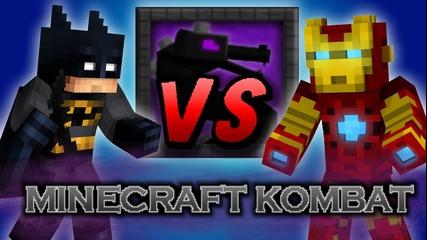 Minecraft Epic Battle Batman Vs Ironman