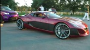 1000 Hp Rimac Electric Car does a Burnout !