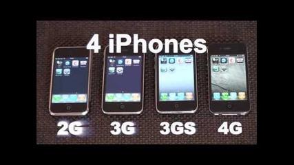 iphone 2g/3g/3gs/4 Speed Comparison