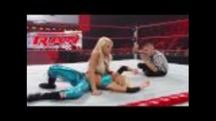 Wwe Raw 06 08 09 divas championship Kelly Kelly vs Maryse