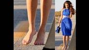Selena Gomez feet, booty, upskirt