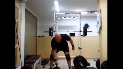 Тренировка 27.03.2014 - преден клек 170 кг
