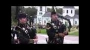 Real Scotland bagpipers