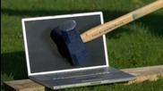Sledgehammer vs Mac in Slow Motion - The Slow Mo Guys