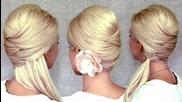 кръстосани прически: средно дълга коса, което се носи в опашка и в топирана коса [видео урок ]