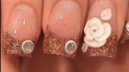 Акрилни нокти Tutorial - Шоколад блясък акрил с 3d цвете