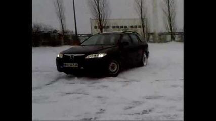 mazda 6 snow drift