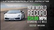 световен рекорд на драг: 378 км/ч за ½ миля