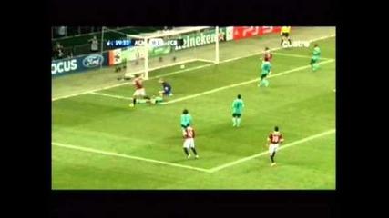 Милан 1:1 Барселона - Гол на Ибрахимович