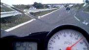 Yamaha R-6 не може да стигне Astra Gsi в България