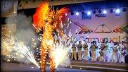Carnival 2014 Samba Princess Elected with Fire Costume Clara
