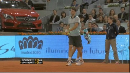 N. Djokovic - G. Dimitrov: 1-2 (madrid 07.05.2013)