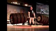 Benedikt Magnusson 1100 Tire Deadlift World Record