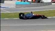 2015 F1 Testing Jerez new Mclaren Honda sound