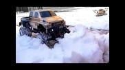 Rc Adventures - Overkill Plows In Heavy Snow - Custom 4x4 Truck