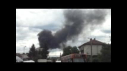 Пожар в теца в Перник