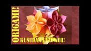 Origami Daily - 238: Kusudama Flower Ball (modular 12 Unit) - Tcgames [hd]