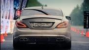 Mercedes Cls 63 Amg Vs Mercedes S 65 Amg; Porsche Switzer R911 (1 mile - 25.5 sec.)