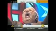 Italian commentator goes nuts when Zlatan Scores Milan - Auxerre