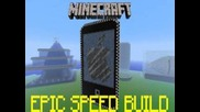 Minecraft Epic Speed Build - ipod Touch !!!