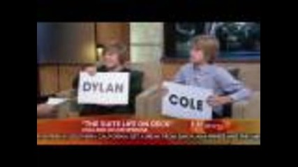 Cole and Dylan Sprouse on Good Morning America on October 16th 2008