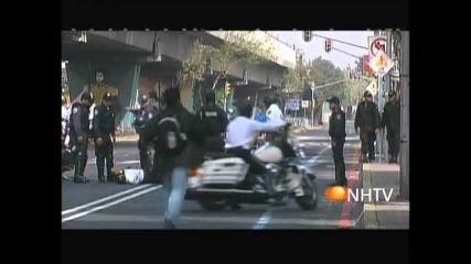 Patrol Motorcycle Speedbump Fail