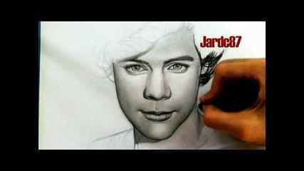 Рисунка на Хари Стайлс от One Direction