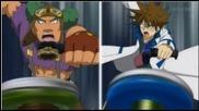 "Metal Fight Beyblade Zero-g Епизод 20 - непревземаема Goreim ""желязна стена"