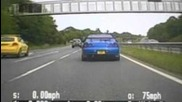 Sussex Police 147 mph chase two idiots racing on the A24