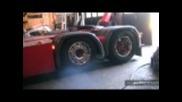 Scania R500 пали гумите :)