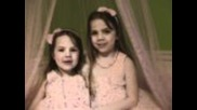 "4 year old Ella, singing with big sister, Emma, ""love Story"" by Taylor Swift"