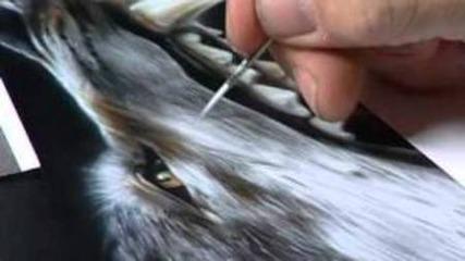Аерография - Рисуване на Вълк