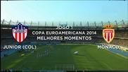 Melhores Momentos - Junior (col) 0 x 1 Monaco - Copa Euroamericana - 20/07/2014